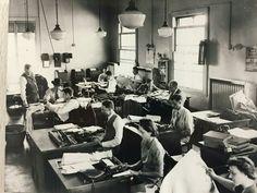 Newsroom in the 1920's
