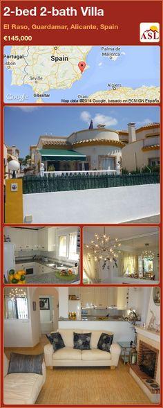 2-bed 2-bath Villa in El Raso, Guardamar, Alicante, Spain ►€145,000 #PropertyForSaleInSpain