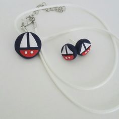 Polymer clay jewelry ⛵ #peasandmore #polymerclay #polymerclaypendant #sailor