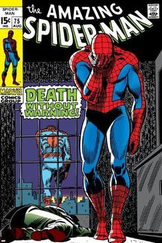 Marvel Comics Retro: The Amazing Spider-Man Comic Book Cover Death Without Warning! Marvel Comics Poster - 30 x 46 cm Marvel Dc, Marvel Heroes, Amazing Spider Man Comic, Amazing Spiderman, Marvel Comic Character, Marvel Comic Books, Marvel Movies, Comics Spiderman, Spider Man