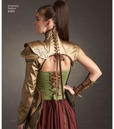 Star Wars Discover Simplicity Pattern 8363 Misses Fantasy Ranger Costume Size Elf Costume, Cosplay Costumes, Cosplay Ideas, Fantasy Dress, Fantasy Outfits, Fantasy Clothes, Fantasy Armor, Costume Tutorial, Costume Patterns