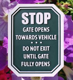 Strata Sign Company Stop Signs - Gate Open Sign www.customoutdoorwoodensigns.com
