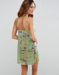 f78f40f4470 ASOS Tie Dye Lace Trim Cami Beach Sundress - Green