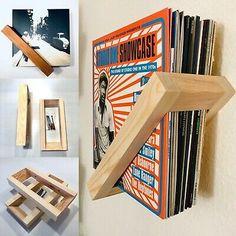 Vinyl Record Storage, Lp Storage, Vinyl Records Decor, Vinyl Record Display, Diy Wood Projects, Home Projects, Record Cabinet, Diy Rangement, Vinyl Room