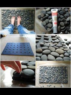 Clique na foto  Capacho de cascalho Stone mat