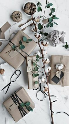 Get in the holiday spirit! As you're buying gifts, add a personal touch with Unique 50 Christmas gift wrapping ideas! Upcycled Kraft Paper Gift Wrapping Ideas From: The Found and The Fancy How to P… Wrapping Ideas, Creative Gift Wrapping, Present Wrapping, Creative Gifts, Wrapping Papers, Brown Paper Wrapping, Christmas Gift Wrapping, Christmas Presents, Holiday Gifts