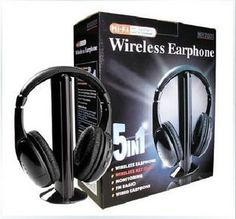 Buy 2018 Brand New Multifunction 5 in 1 Cordless Headphone FM Wireless Headset Earphone for MP4 MP3 PC TV Ipod auriculares mikrafon at Wholesale Price. Free or Lowcost Worldwide Shipping. And large of options in our best Portable Audio & Video category with cheapest price on Pricetug.com Wireless Headphones For Tv, Best Headphones, Wireless Headset, Pc Music, Consumer Electronics, Monitor, Audio, Ipod, Amp