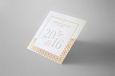 Design : Sophie Pertuisel • Carte de voeux en letterpress et dorure • Cabinet Sand Avocats • Impression : Badcass