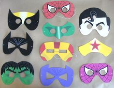 Choose ONE SUPERHERO MASK printable pdf files by BessiePooh, $4.00