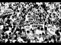 Geraldo Vandré. Pra não dizer que não falei das Flores. Post 1964 Brazil photos. Graphic.