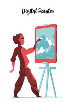 Digital Painter Series by Hurca.com