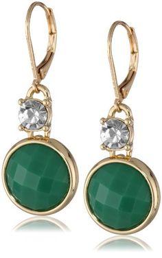 "Anne Klein ""Colorful Waterfall"" Gold-Tone and Green Leverback Drop Earrings Anne Klein http://smile.amazon.com/dp/B00FLQJRA2/ref=cm_sw_r_pi_dp_bYSzub08VXV6E"