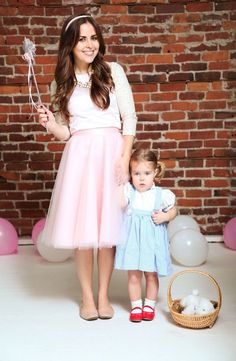 DIY Mommy + Me Halloween Costumes Dress up as Dorothy + Glenda for Halloween.Dress up as Dorothy + Glenda for Halloween. Mother Daughter Halloween Costumes, Mom Costumes, Baby Girl Halloween Costumes, First Halloween, Family Halloween Costumes, Halloween Kids, Costume Ideas, Halloween 2019, Group Halloween