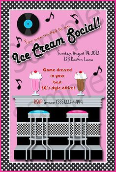 Retro 1950s Style Ice Cream Social Party by Cottonfieldfarm,