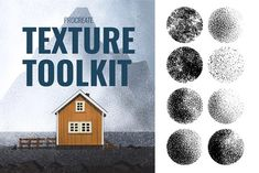 Procreate Texture Toolkit by Kassandra Escoe on @creativemarket