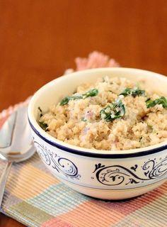 Spinach Parmesan Quinoa - #quinoa recipes