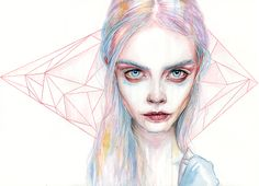 Tomasz Mrozkiewicz - Paintings for Sale Watercolor Portraits, Watercolor Paintings, Watercolour, Canvas Paintings, Agnes Cecile, Sketchbook Inspiration, Creative Inspiration, Creepy Art, Portrait Art