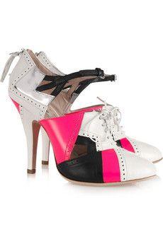 889a601bf0ac So I ve posted way too many shoe photos onto my wedding board. MIU MIU  Cutout leather lace-up heels