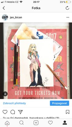 sketch - lady gaga tiff2017 - @jan_bican