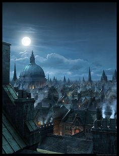 """London Rooftops done for Annie Leibovitz Disney ad """"Year of a Millon Dreams"""" (London Rooftops by El Rafo, via Flickr)"""