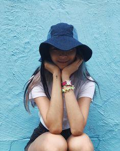 Shades of blue denim💙🌈 Irene Kim, Asian Fashion, Shades Of Blue, Blue Denim, Model, Hair, Instagram, Scale Model