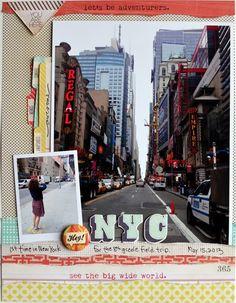 NYC vacation scrapbooking