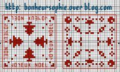 Free pattern. Christmas biscornu