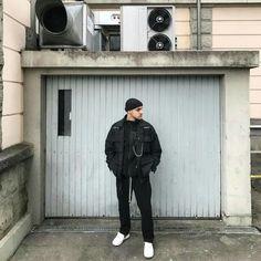 all black menswear street style