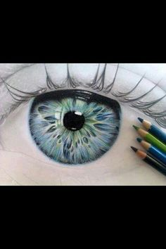 """""""One of the first thing I notice about people are their eyes, and this piece of artwork just reminds me how beautiful and complex and eye can be."""" This artist has it right."""