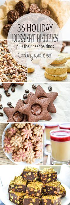 36 Holiday Dessert Recipes – Cooking and Beer From holiday cookies to sugar cookie cake and from pots de creme to spiced bread, here are 36 holiday dessert recipes to get you through the holidays! Winter Desserts, Christmas Desserts, Christmas Baking, Fun Desserts, Delicious Desserts, Dessert Recipes, Christmas Recipes, Holiday Recipes, Winter Treats
