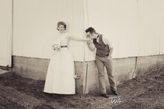 First look Around the Corner of the Barn   Timothy Whaley  Associates Photographic Artists   Chicago Wedding Photographer 