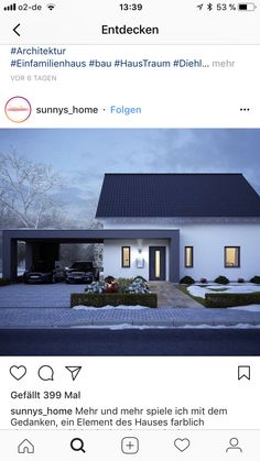 Building Facade, Building A House, Modern Brick House, Carport Designs, Rural House, Welcome To My House, House Extensions, House Entrance, House Front
