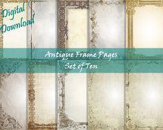 Stationery Paper, Printable Paper, Digital, Your Image, Printer, Fox, Vintage Fashion, Printables, Antiques