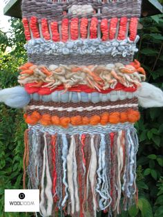 Autumn - Otoño - Hand woven wall hanging // weaving // telar decorativo made by WooL LooM