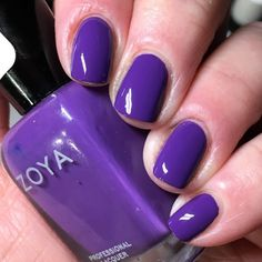 Purple Nail Polish, Zoya Nail Polish, Nail Polishes, My Nails, Swatch, Nail Ideas, Beauty, Collection, Enamels