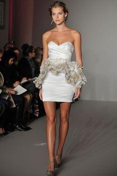 Peplum (made of fabric petals) party dress- SO cute!