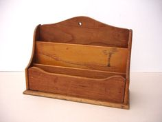1950s Vintage Wood Letter Rack by FillyGumbo on Etsy, $45.00
