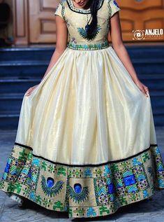 enku design Ethiopian Traditional Dress, African Traditional Dresses, Traditional Outfits, Ethiopian Wedding Dress, Ethiopian Dress, African Shirt Dress, African Wear, Latest African Fashion Dresses, African Print Fashion