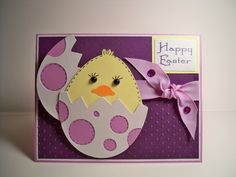 Card Creations & More by C: Easter Card - Purple Chick