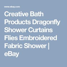 Creative Bath Products Dragonfly Shower Curtains Flies Embroidered Fabric Shower | eBay