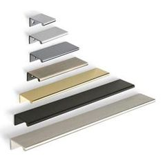 mockett.com tab pulls/ finger pulls in a variety of finishes and lengths to be inset into routed area