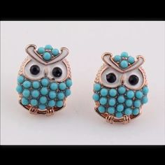❤️Blue Owl Earrings and anchor earrings❤️ NWOT. Jewelry Earrings