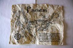 Hunger Games, map of Panem