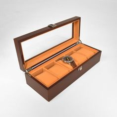 Mahogany Effect Watch Display Case - The Display Centre Watch Display Case, Bracelet Display, Camel, Jewellery Displays, Colours, Watches, Centre, Jewelry, Retail