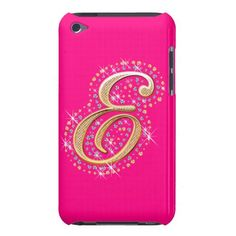 Pink iPod Touch Case with Initial E