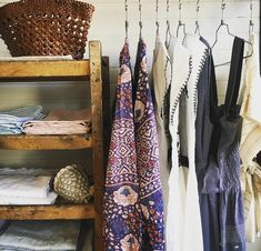 SUMMER clothing heart heart heart !   ❤️  We set up a little edited clothes rack by the entrance again this year  #pallette @mattany @mirthcaftans @meena_mahal @dragonbagslovers @linenme @mquanstudio