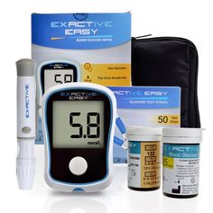Exactive Easy Blood Glucose Meter Monitoring System Kit w/ 50Pcs Test StripsandLancets * Read more reviews of the product by visiting the link on the image.