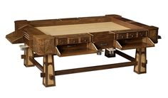 The Sultan - Custom gaming table for that serious gamer.  Average price tag $12,000 - $15,000