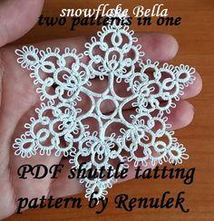 by Renulek Shuttle Tatting Patterns, Needle Tatting Patterns, Irish Crochet, Crochet Lace, Tatting Tutorial, How To Make Rings, Tatting Lace, Lace Making, Bobbin Lace