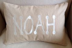 Embroidered/Monogrammed Boy's Tooth Fairy Pillow.  10 X 15 pillow.  Down and feather insert. Custom orders by OhSoVerySherry on Etsy https://www.etsy.com/listing/179314759/embroideredmonogrammed-boys-tooth-fairy